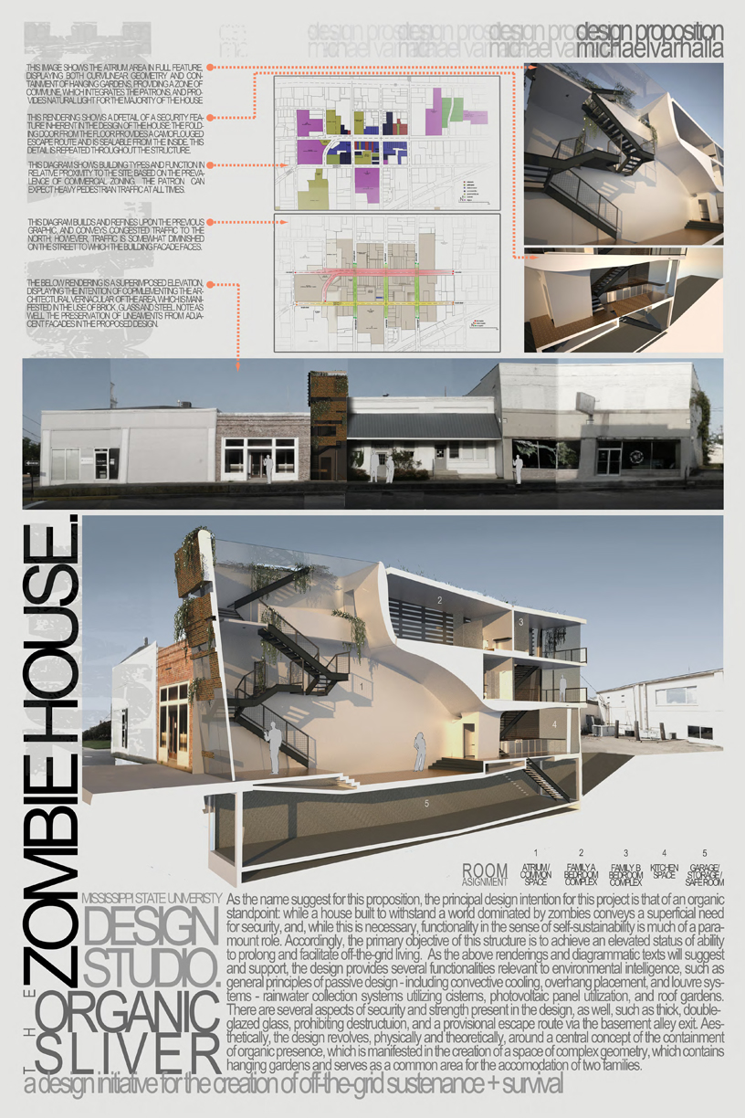 Architecture House Competition z1540 | zombie safe house competition